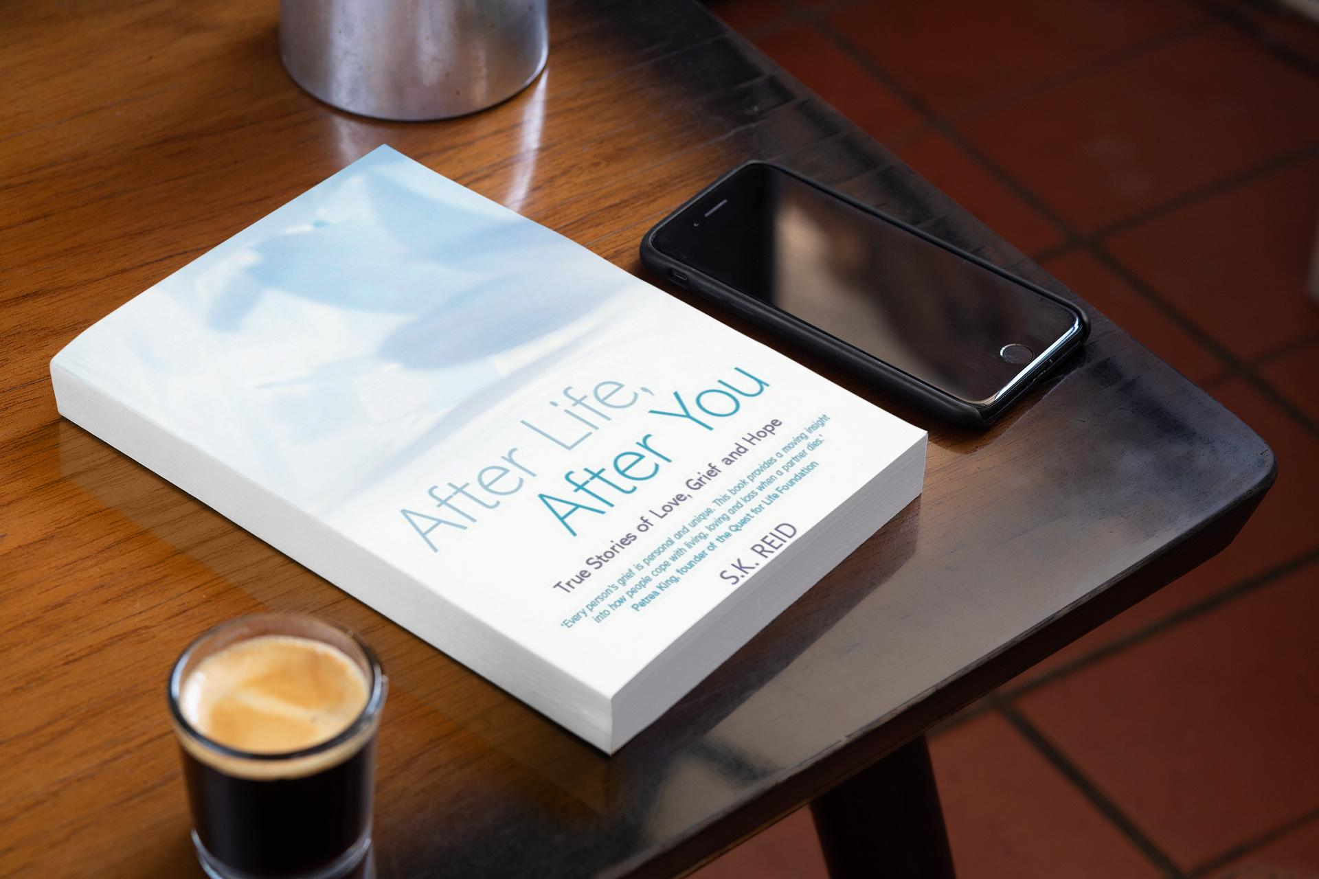 Copy of book on coffee table